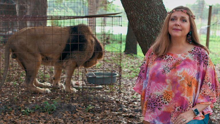 Carole Baskin in Tiger King. Pic: Netflix